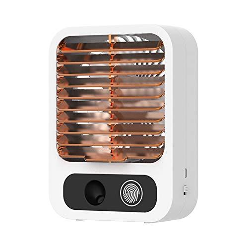 MagiDeal Mini Ventilador de Aire Acondicionado Personal, Enfriador de Aire evaporativo de Mesa, Niebla fría para el Dormitorio - White