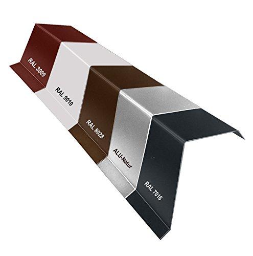 Aluminium Ortgangblech Ortblech Dachrandblech Ortgangwinkel 20,0/0,8mm 2000mm Grau RAL 7016