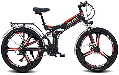 Bciclette Elettriche, 26' pieghevole Ebike, 300W elettrica Mountain bike for adulti Pedale 48V 10AH agli ioni di litio Assist E-MTB con 90KM durata della batteria, il GPS di posizionamento, 21-velocit