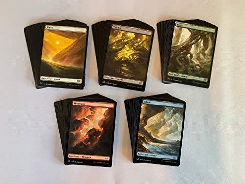 100 Full Art Basic Lands - Magic The Gathering - 20 Swamp, Mountain, Forest, Plains, Island - MTG!