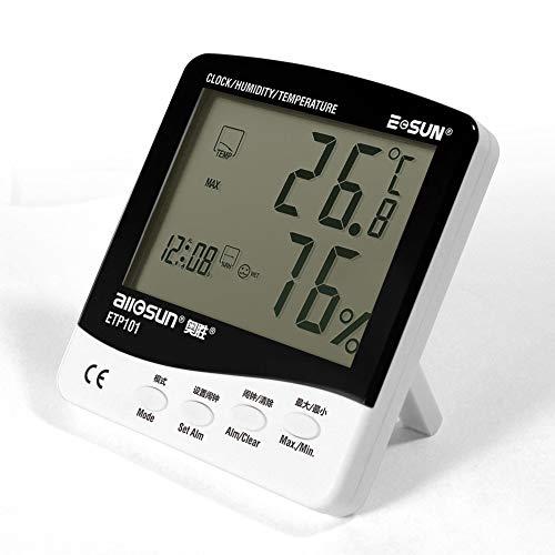 Tester Multifunktion ETP101 Digitales Thermo-Hygrometer Taupunktmessgerät mit Feuchtigkeitsalarmfunktion Hochpräzises Thermometer Feuchtigkeitsmessgerät