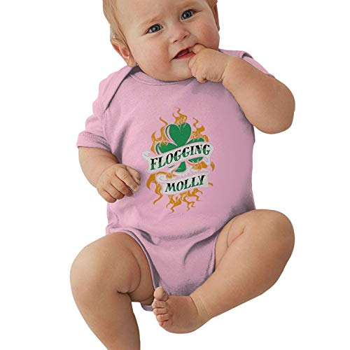 Kirito Beasley Neutral Baby Jersey Bodysuit, Baby Short-Sleeve One-Pieces Bodysuits Celtic Punk Band Flogging Molly Baby Onesies Bodysuits, Child Romper Jumpsuit Cotton T-Shirts 6 Months Pink