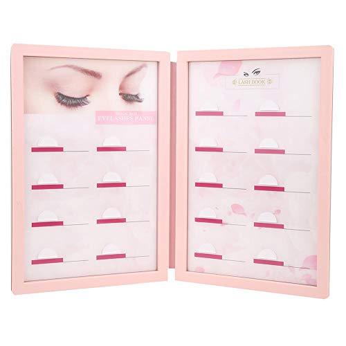 Étui de rangement pour cils, faux organisateur de cils acrylique bricolage greffe boîte d'affichage de cils maquillage cosmétique organisateur de cils pour les yeux porte-palette