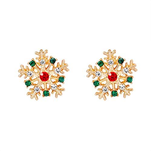 Yinew Women Christmas Earring Stud - Santa Claus Snowman Hat Bell Christmas Tree Stud Earrings Gifts for Teens s Cute Festive Earrings Jewelry,1#