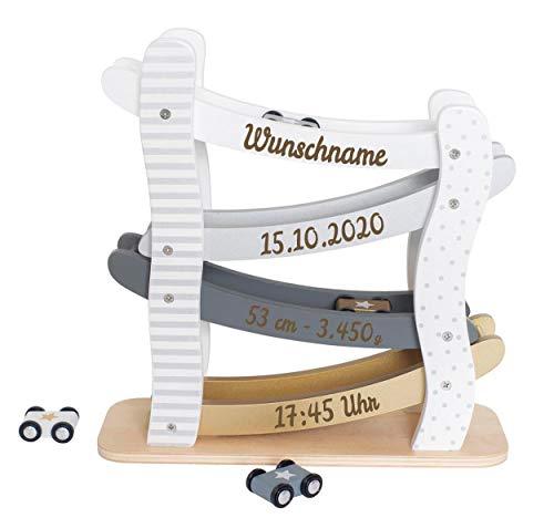 Elefantasie Autobahn aus Holz mit Namen und...