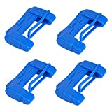 ETEERNVITY 4 Pcs/Sets Universal Car Seat Safety Belt Buckle Silicone Cover Clip Protector, Durable Anti-Scratch Mute Interior Accessories, Protect Children from Harm (Blue)