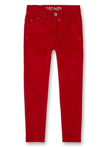 Sanetta Sanetta Mädchen Trousers Hose, Rot (Lipstick Red 38058), 140