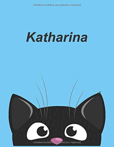 Personalisiertes Notizbuch: Katharina - über 100 Seiten, liniert im A4+ Format