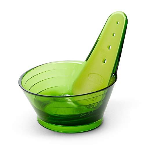 Chef'n Zipstrip - Strumento di spogliatura per erbe e misurino, 60 ml, colore: Verde
