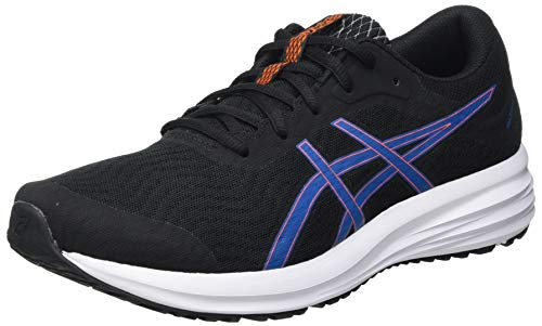 Asics Patriot 12, Road Running Shoe Hombre, Black/Reborn Blue, 42.5 EU