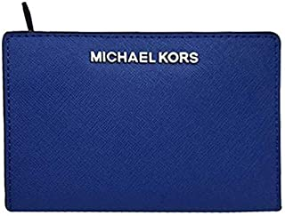 Michael Kors Women's MD Card Case Carryall Medium Purse, Leather - Sapphire Blue
