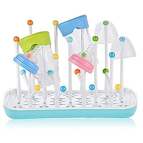 Trockenständer Babyflaschen, Abtropfgestell Flaschen, Trockenständer für Flaschen, Abtropfgestelle für Babyflaschen, Flaschen, BPA-frei (Blau)