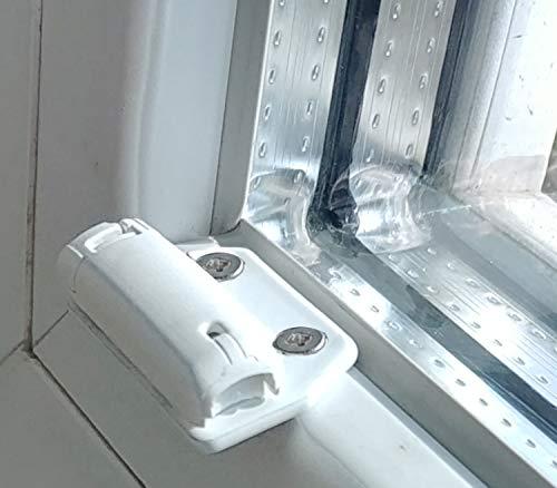 Cosiflor Plissee verspannt Montageplatte schmalen Falz, Schaubmontage im Fenstrrahmen bei geringer Falztiefe 4 Stück incl. Befestigungsmaterial für Spannschuhe