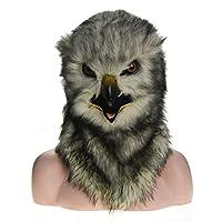XINJP、マスク ハロウィン工場直販毛皮ハロウィンムービングマウスマスクフクロウシミュレーションアニマルマスク (Color : Grey)
