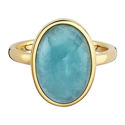 Cai Damen Ring 925/- Sterling Silber Glänzend Amazonit gelb 8,00ct 132270585