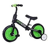 BestSiller Bicicleta 4 en 1 para niños con pedales desmontables, bicicleta de equilibrio de triciclo, juguete de equitación para niño y niña