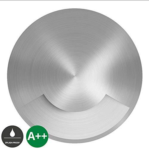 Lucande Bodeneinbauleuchten 'Milara' dimmbar (wasserdicht) (Modern) in Alu aus Aluminium (1 flammig, GU10, A++) - Bodeneinbauleuchte außen