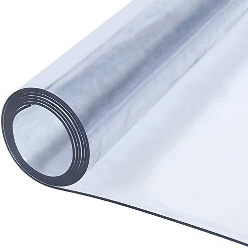 ETZBQ Protector de Mesa de Material Impermeable Transparente, Protector PVC para mesas de Cocina, mesas de Comedor, Mantel, Mesa de Escritorio Grosor 0.5mm(90x90cm/35.43x35.43in)