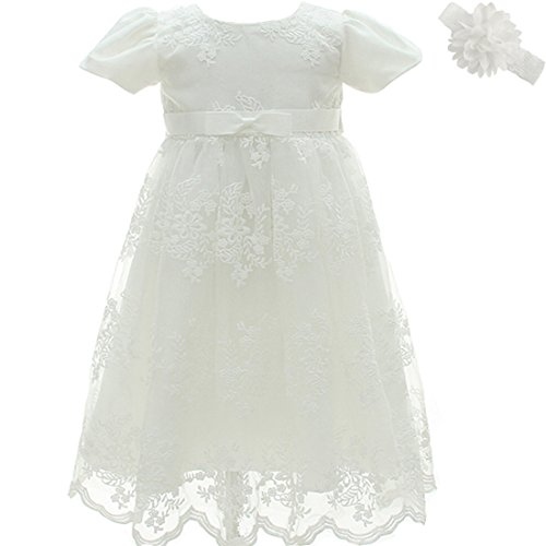 AHAHA Christening Baptism Long Dress Princess Wedding Special Occasion Dress