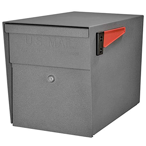 Mail Boss 7105 Curbside Locking Security Mailbox, Granite