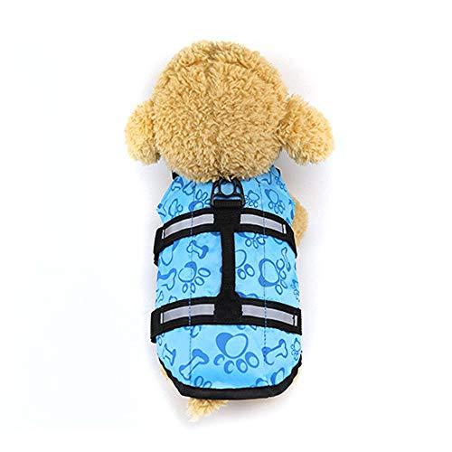 Urijk Hund Schwimmweste Hundelebensweste Rettungswesten Badeanzug Weste für Kleine Mittlere Große Hunde Haustier
