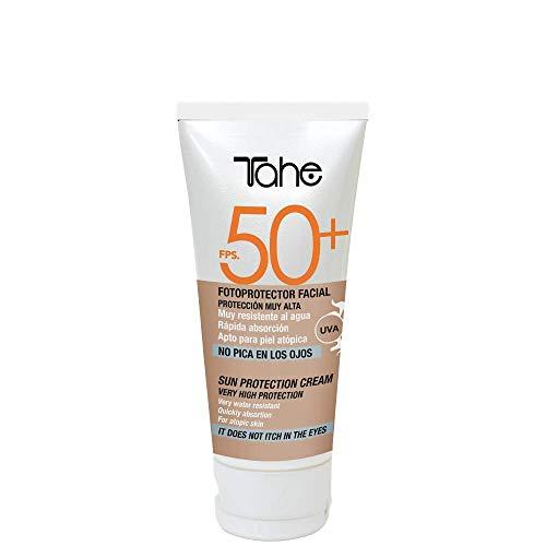 Tahe Sun Protect Protector Solar Facial Crema Solar para Cara Water Resistant FPS 50+ Apto para Piel Atópica 50 ml