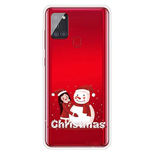 Unichthy - Cover protettiva per Samsung Galaxy A21s, in silicone morbido, antiurto, motivo natalizio con cartoni animati, ultra sottile, trasparente in gel TPU per Samsung Galaxy A21s Pattern-29