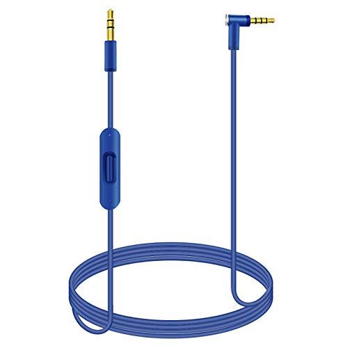 Beats Kabel Ersatz Audio AUX Verlängerungskabel mit Inline-Mikrofon RemoteTalk Kabel Kompatibel mit Beats Solo3 / Solo2 / Studio 3 / Studio 2 / Solo Pro Wireless kopfhörer.3.5mm 1.4M/4.6ft (Blau)