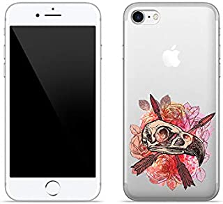 Etui na Apple iPhone 8 - etui na telefon Crystal Design - Meksykańska czaszka - guma case obudowa silikonowa wzory