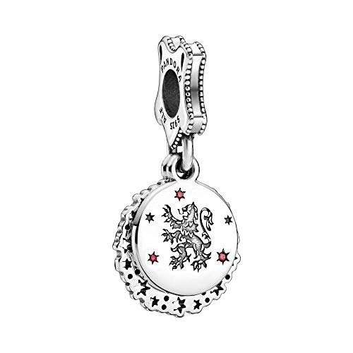 Harry Potter, Gryffindor sterling silver dangle with red cubic zirconia