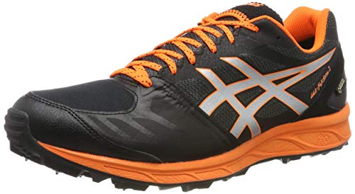 Asics Gel-fujisetsu GTX 2, Zapatillas de Running para Hombre, Negro (Performance Black/Shocking Orange 001), 42.5 EU