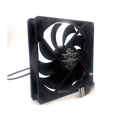 Ventilador de ventilador USB Ventilador de enfriamiento DIY PC Cooler TV Caja de TV inalámbrica silenciosa DC 5V Fuente de alimentación USB 120 mm Ventilador 120x25mm 12c / Red de protección de tornil