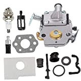JIAWA MS170 Carburetor fit for STIHL 017 018 MS180 MS170C MS180C Chainsaw C1Q-S57A 1130-120-0603 with Air Filter Tune Up Kit Replacement Part Oil Filter