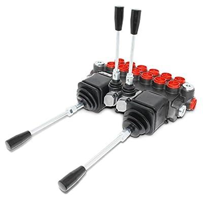 Monoblock Hydraulic Directional Control Valve w/ 2 Joysticks, 6 Spool, 11 GPM by Summit Hydraulics