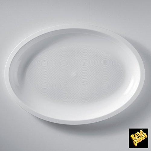 Assiettes plastique Round ovales grands PP L315 MM cfz 25pz Bianco