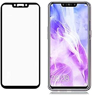 Huawei Nova 3 (6.3) 3D Curved Full Coverage Tempered Glass Screen Protector For Nova 3 With Black Frame By Muzz