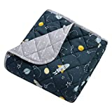 Trend Lab Quilted Jersey Baby Blanket, Rockets