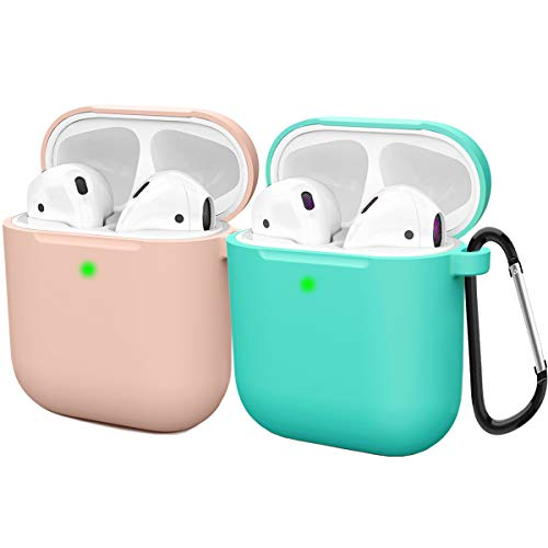 Compatible AirPods Case Cover Silicone Protective Skin for Apple Airpod Case 2&1 (2 Pack) Sand...