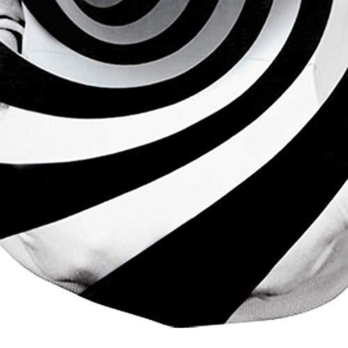 3D Hoodie Men Striped Digital Vortex Print Cool Super Size 5XL Top Sweatshirt Black