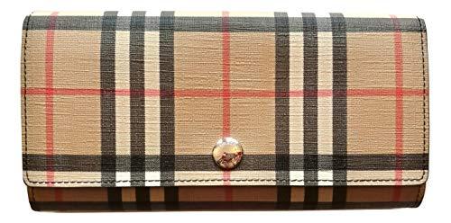 BURBERRY portafoglio donna continental HALTON 80151161 vintage check e nero