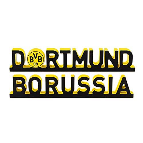 Borussia Dortmund Unisex Bvb-dekoschriftzug Borussia Dortmund Dekoration, Schwarz/gelb, Einheitsgröße