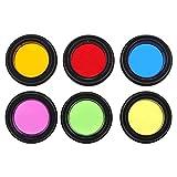 Bindpo Filtros de telescopio, 6 Colores Filtro de oculares de telescopio de 1,25 Pulgadas Filtro de Vidrio óptico Juego de filtros de Color astronómico con Caja de Almacenamiento para telescopio
