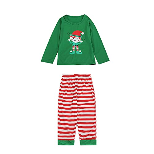 KMKM Weihnachten Familie Schlafanzug Outfit Nachtwäsche Herren Damen Kinder Lang Pyjamas Set mit Weihnachtsmotiv Fun-Nachtwäsche Christmas Hausanzug