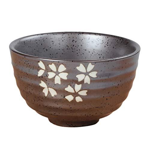 Traditionelle Matcha-Teeschale, grüner Reis, Dessert, Keramik-Schüsselhalter zum Trinken, Kaffee, Tee, Essen, Mahlzeiten, 1 Stück