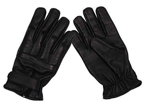 A. Blöchel Schutzhandschuhe Defender aus Leder mit Quarzfüllung Security Lederhandschuhe Schwarz S-XXL (L)