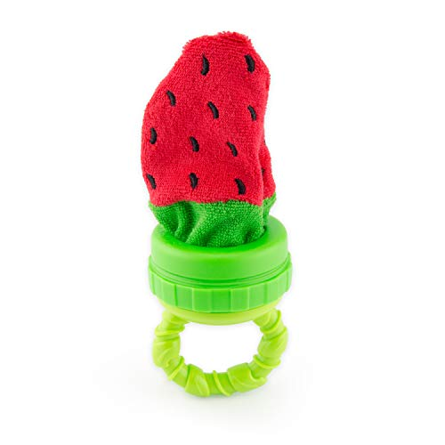 Sassy Terry Teether with Handle, Strawberry (80251)