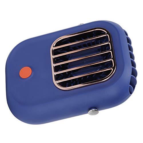 QIRG Ventilador de Escritorio USB, 3 velocidades, Cuello Colgante Ajustable, pequeño Ventilador portátil, silencioso, Mejorado, Ventilador de Escritorio Personal con 29 aspas turbofan para Viajes