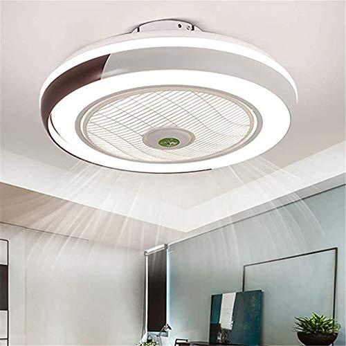 Ventilador De Techo Con Iluminación LED Luz, Creativo Regulable Moderna Con Mando A Distancia, Velocidad Del Viento Ajustable, Ultra Silencioso De La Sala Dormitorio De La Lámpara Del Ventilador 50Cm