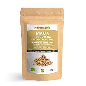 Maca Andina Ecológica en Polvo [ Gelatinizada ] 200g. Organic Maca Powder Gelatinized. 100% Peruana, Bio y Pura, viene de raíz de Maca Organica. NaturaleBio