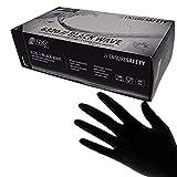 Schwarze Nitril Handschuhe Nitras'Black Wave' 100 Stück Größe XS